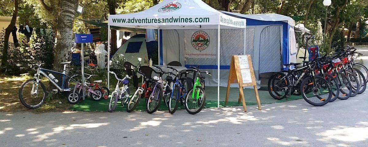 Ποδηλατικός τουρισμός στο κάμπινγκ Αρμενιστής